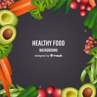 Realistyczne zdrowe jedzenie
