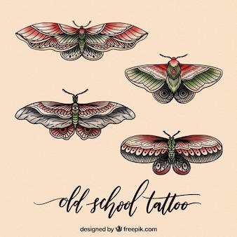 Realistyczne zestawy motyli tatuaże