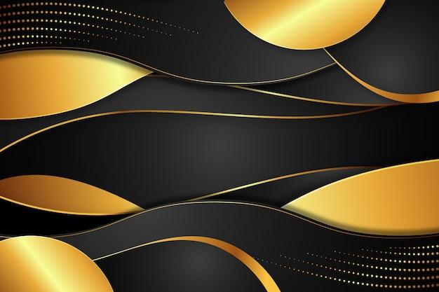 Realistyczne złote luksusowe tło