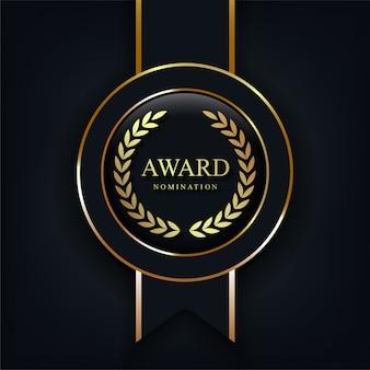 Realistyczne znaki nominacji do nagrody.