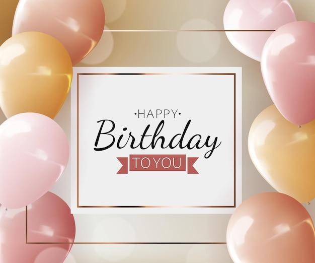 Realistyczny balon 3d, życzenia urodzinowe