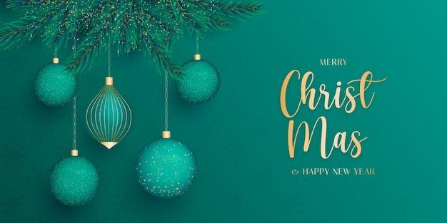 Realistyczny baner świąteczny