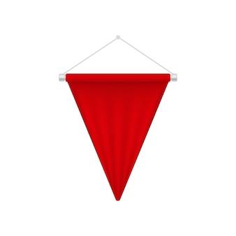 Realistyczny czerwony proporzec szablon