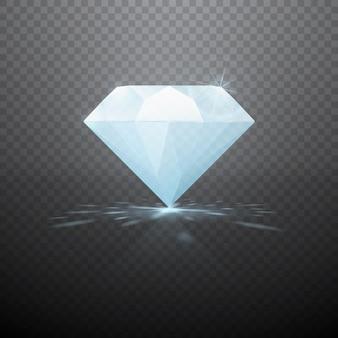 Realistyczny diament na białym tle