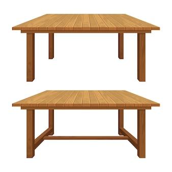 Realistyczny drewniany stół teksturowany