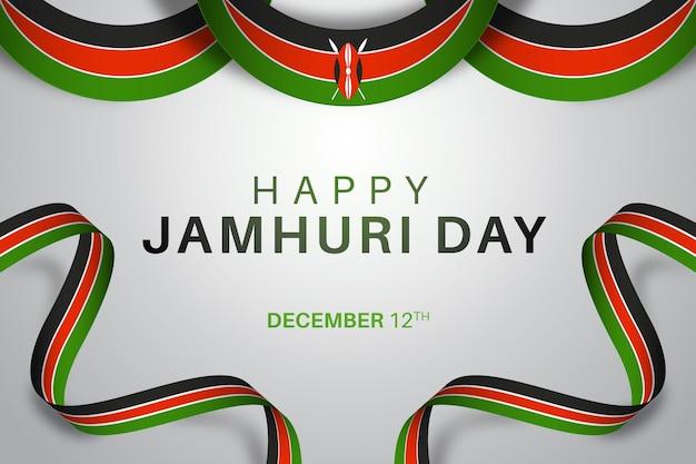 Realistyczny dzień jamhuri z flagą afrykańską