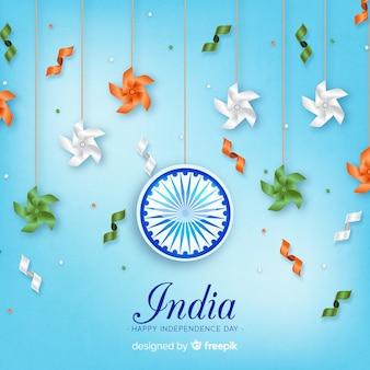 Realistyczny dzień niepodległości indii tło