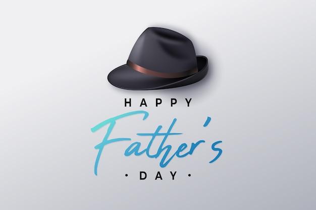 Realistyczny dzień ojca i męski kapelusz