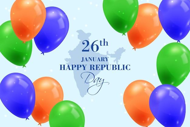 Realistyczny dzień republiki z balonami
