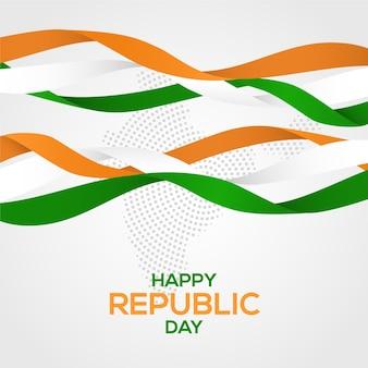 Realistyczny dzień republiki z flagą