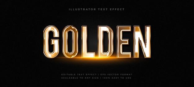 Realistyczny efekt czcionki w stylu złotego chromu