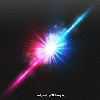 Realistyczny efekt kolizji dwóch świateł
