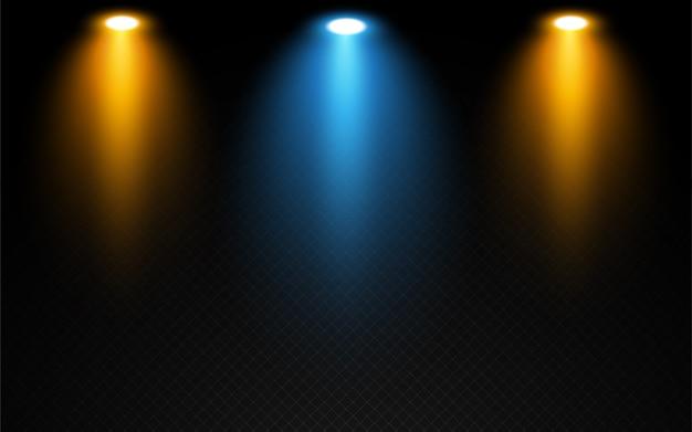 Realistyczny efekt świateł scenicznych