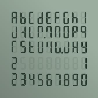 Realistyczny elektroniczny alfabet