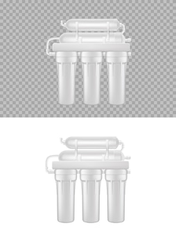 Realistyczny filtr do wody, naturalny system oczyszczania wody z odwróconej osmozy 3d