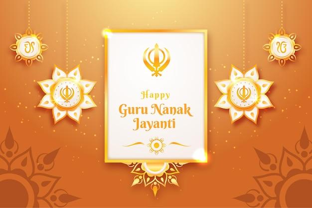 Realistyczny guru nanak jayanti