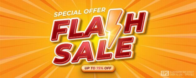 Realistyczny ilustrator plakatów lub szablonów banerów na sprzedaż flash