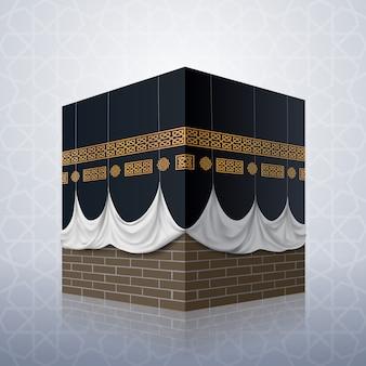 Realistyczny islamski ikony kaaba meczet