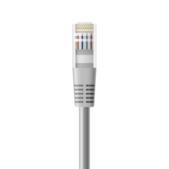 Realistyczny kabel ethernet do lokalnego połączenia z siecią internet.