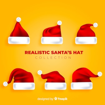 Realistyczny kapelusz świętego mikołaja