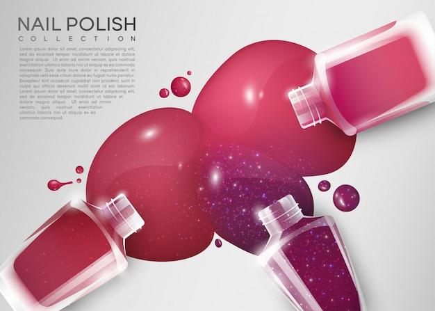 Realistyczny kolorowy plakat kosmetyczny