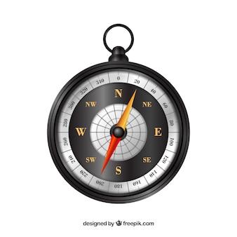 Realistyczny kompas na mapie
