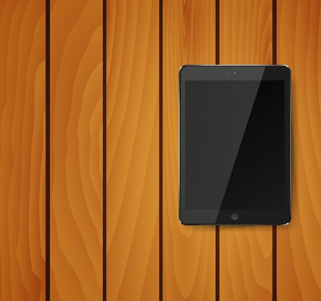 Realistyczny komputer typu tablet pc z czarnym ekranem.