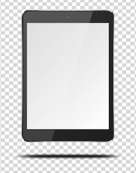 Realistyczny komputer typu tablet pc z pustym ekranem.
