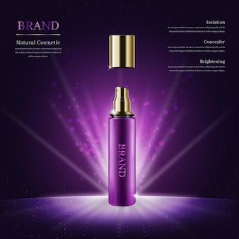 Realistyczny kosmetyk naturalny na ciemnym tle