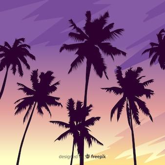 Realistyczny krajobraz zachód słońca na plaży