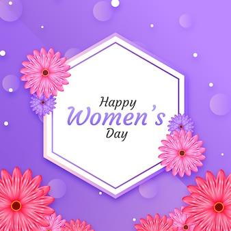 Realistyczny kwiatowy dzień kobiet