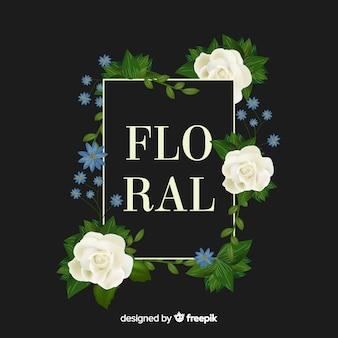 Realistyczny kwiatowy tło