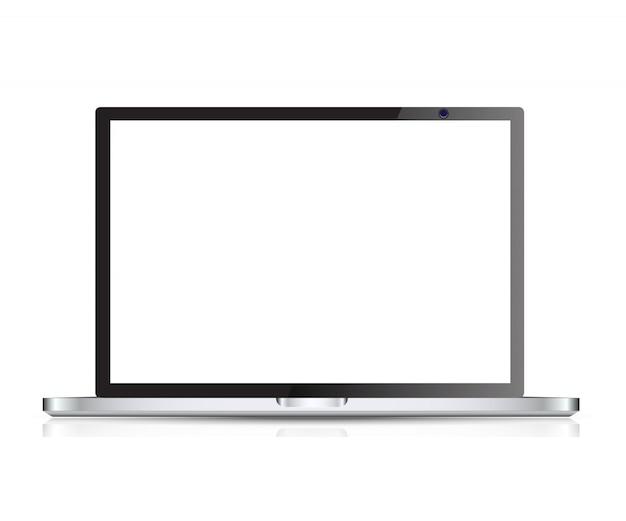 Realistyczny laptop wektor