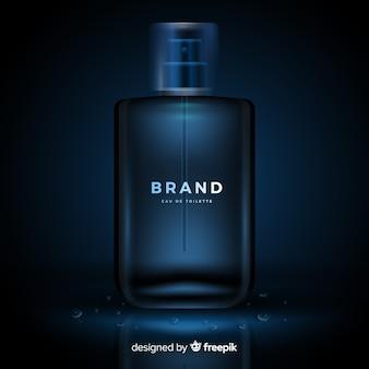 Realistyczny luksusowy szablon reklamy perfum