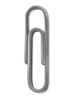 Realistyczny Metalowy Spinacz Do Papieru Premium Wektorów
