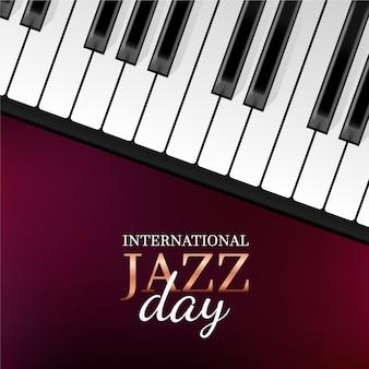 Realistyczny międzynarodowy dzień jazzowy z fortepianem