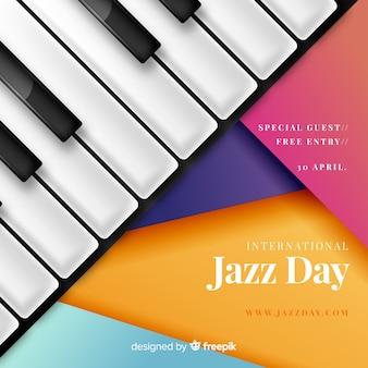 Realistyczny międzynarodowy dzień jazzu tło
