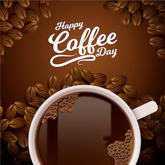 Realistyczny międzynarodowy dzień kawy
