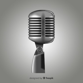 Realistyczny mikrofon