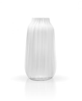 Realistyczny model 3d wazonu w kolorze białym po izolacji