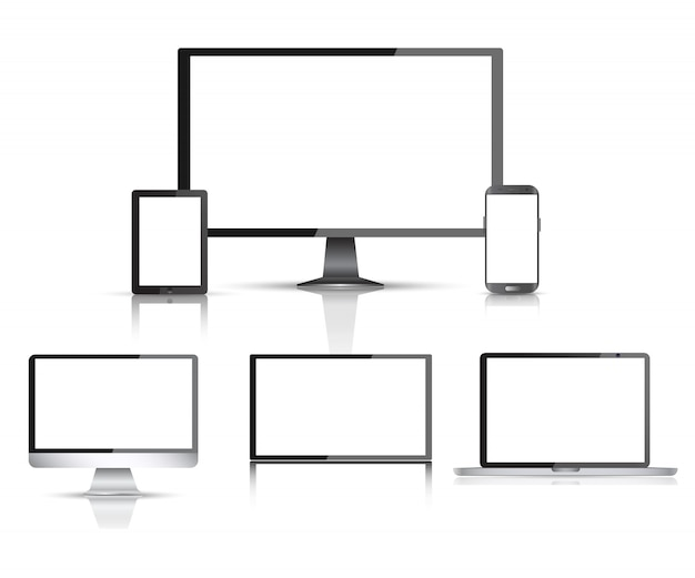Realistyczny monitor komputera