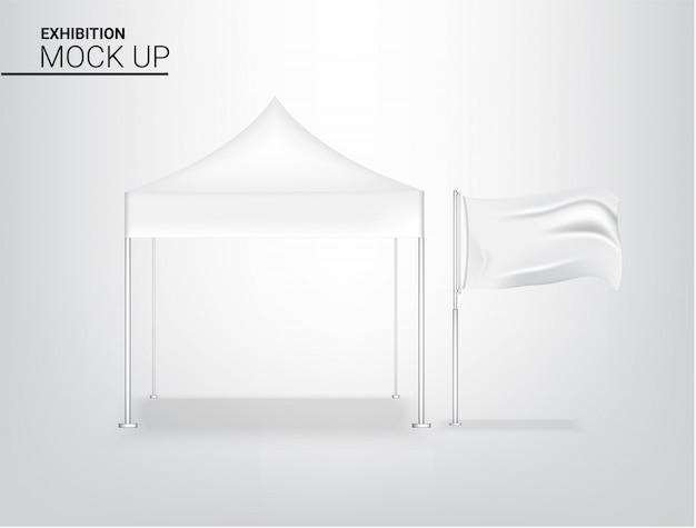 Realistyczny namiot ekspozycyjny stoisko pop do promocji sprzedaży w sklepie sprzedaż