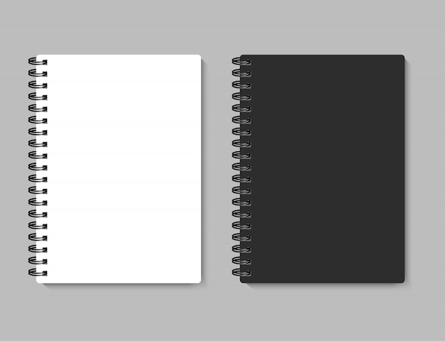Realistyczny notatnik dla twój wizerunku, ilustracja.