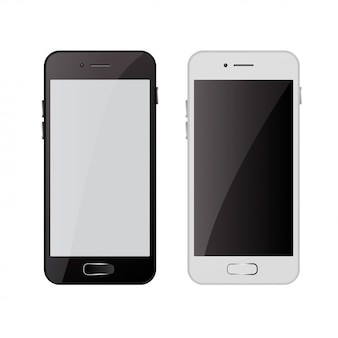 Realistyczny nowoczesny telefon