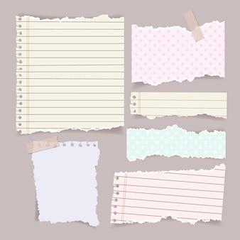 Realistyczny pakiet efektów papieru do ripowania