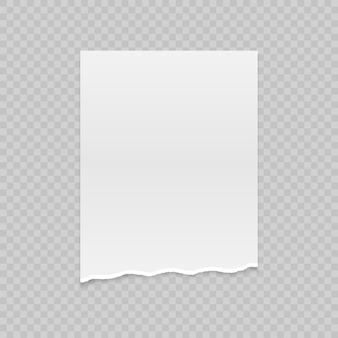 Realistyczny papier rozdarty z zerwanymi krawędziami