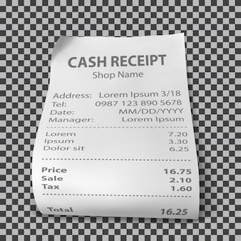 Realistyczny paragon sklepowy