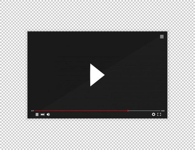 Realistyczny pasek odtwarzacza wideo.