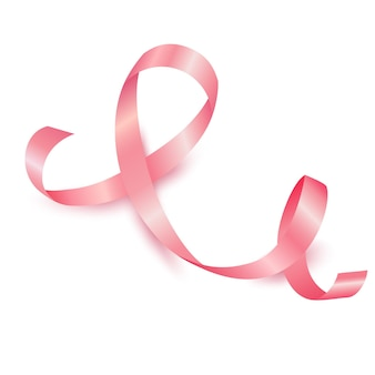 Realistyczny październikowy miesiąc świadomości raka piersi z różową wstążką
