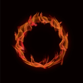 Realistyczny pierścień ognia
